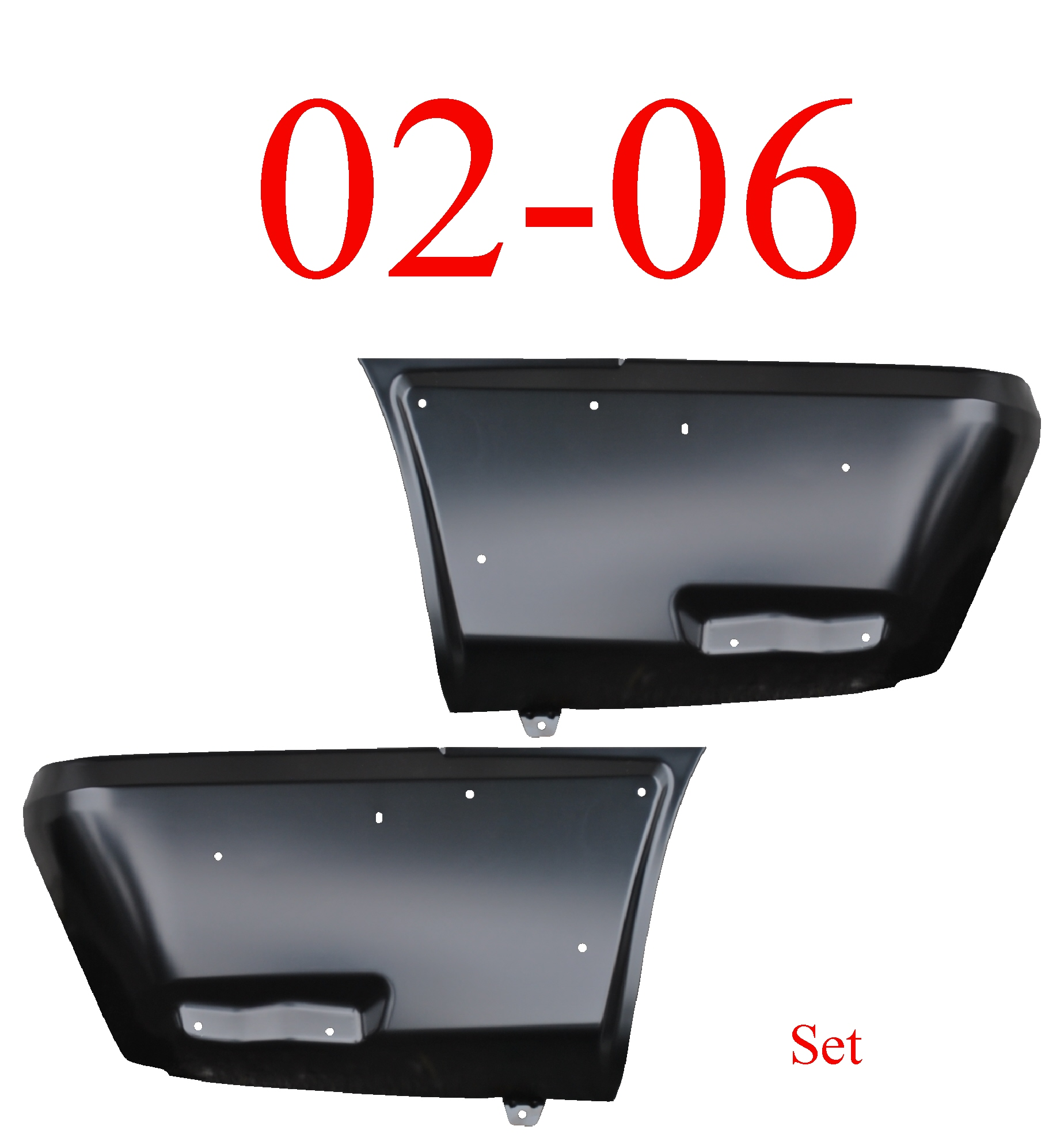 02-06 Chevy Avalanche Rear Lower Quarter Panel Set W/Cladding